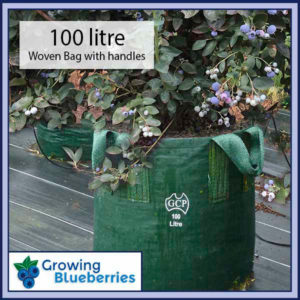 100 litre Blueberry Growing Woven Bag - Blueberry Growing Supplies - For more information go to GrowingBlueberries.com.au